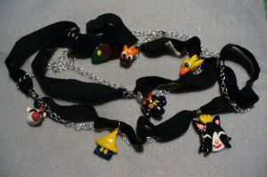 Final Fantasy Charms Necklace by Phantasmfreud