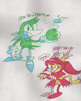Bean and Honey doodles by EvilSonic2