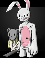 Mouse and Bunny by IJustDrawStuff