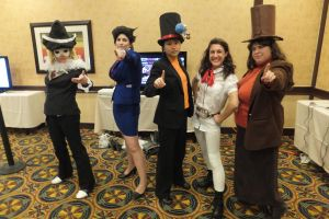 ALA 2013: Professor Layton VS Ace Attorney by KatyMerry