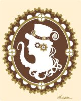 Steampunk octopus silhouette by natashalins