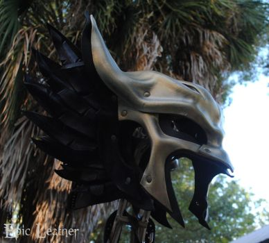 Leather Hawkgirl Helmet by Epic-Leather