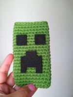 Creeper phone ipod cover by pirateluv