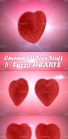 3D FUZZY HEARTS by dabbex30