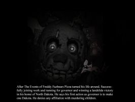 After the events of Fnaf.....Springtrap by TheHuminoid