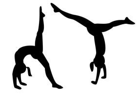 tumbling gymnasts - 2 shapes by gabbyt