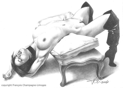 Nude I by FChampagne-Limoges