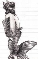 Goldfish Mermaid by AAButterWhale