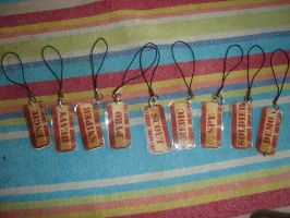 TF2 Tags Cellphone Charms by Ginny-N