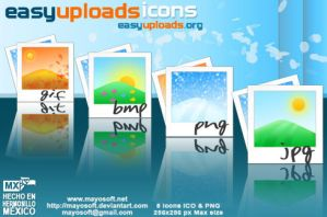 Easy Uploads icons by Mayosoft
