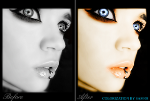 Colorization Face by xiggy01x