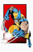 Wolverine color test by LarsonJamesART