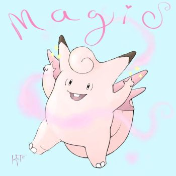 Clefable Magic by feltieflaffy