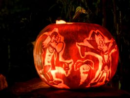 Count Duckula Pumpkin 2007 by Draicwing