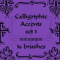Calligriphic Accents 3 by rL-Brushes