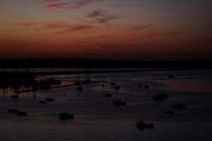 Harbor in the last light 2 by UdoChristmann