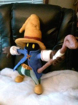 Needle Felted Vivi with staff by CreationsbyFrost