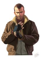 GTA Niko Bellik - Andrea Reali by Speeddrawingitalia