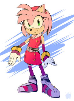 Sonic Boom: Amy by chickenoverlord
