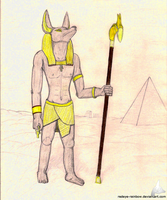 Anubis Traditional by Redeye-Rainbow