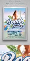 Beach Party Flyer by designercow