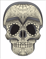 Day of the Dead Sugar Skull by mattdmofo