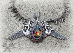 Cathedral of the Forest- Large Gargoyle Choker by ArtByStarlaMoore