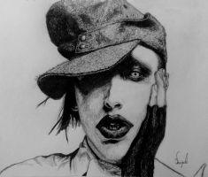 Marilyn Manson by AWickedShade
