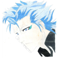 Grimmjow JaegerJaquez (Colored) by Girl-Zutarian13