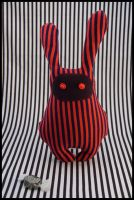 BunnyBoo Plush Red And Blue Stripes by MonstriBoo