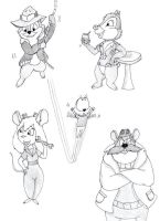 Rescue Rangers quick drawings by michal-sobota