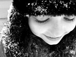Let It Snow BW by Tiffanyy09