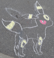 Umbreon Chalk Art by tinystalker