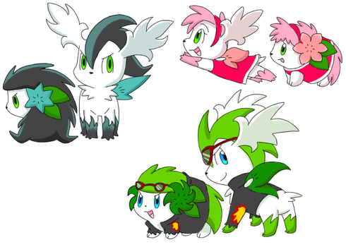 More Sonicmins by Karrotcakes