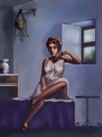 Lady in a Blue Room by TheNecco