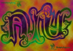 Ayu Ambigram 1 by weejelek