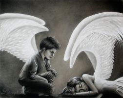 Safe Place - Charcoal commisssion by secrets-of-the-pen
