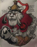 Birthday Drawing.. TUSK by thebloodsin
