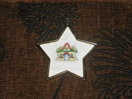 Cross Stitch Christmas House by Enithien
