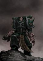 Chaos space marine 4 in color by Jutami