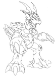 Greymon X8 - REQUEST by neoarchangemon