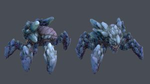 Frenzied Icebug wireframe by Ikameka