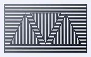 Inspired by Sol LeWitt - Triangle by Manshonyagger