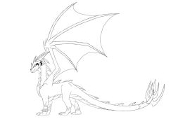 JazzTheTiger style: Deathtail -LINEART- by Deathtail-The-DraCon