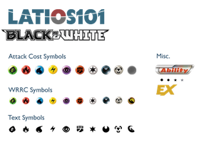 NEW Black and White Symbol Sheet by Latios101