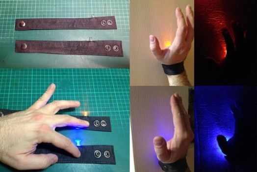 LED Spell Bracelets by LordWobbler