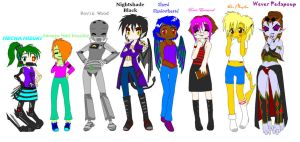 Meet Some Of My OCs by RavinWood