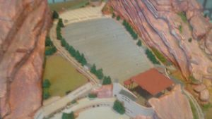 The model of Red Rocks Ampitheater by mylesterlucky7