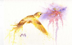 Hummingburst Yellow by bcduncan