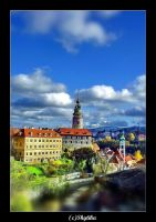 Czech Krumlov view by shytiha